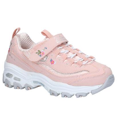 Skechers D'Lites Lil Blossom Sneakers Zwart in kunstleer (263918)