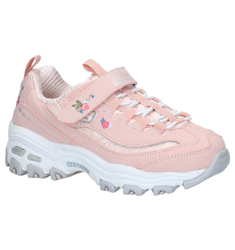 Skechers D'Lites Roze Sneakers in stof (263916)