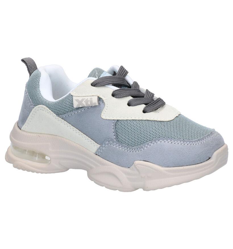 Xti Kids Blauwe Sneakers in stof (281202)