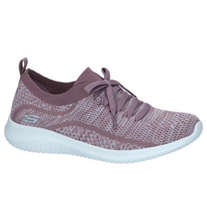 Paarse Slip-on Sneakers Skechers Ultra Flex in stof (247147)