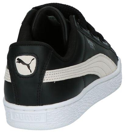 Puma Basket Heart Lage Sneakers Zwart, Zwart, pdp
