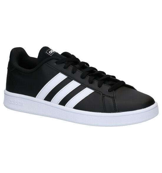 adidas Grand Court Base Zwarte Sneakers