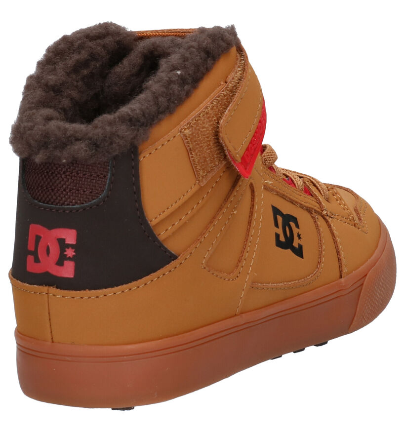 DC Shoes Pure Skate Sneakers en Cognac en nubuck (259569)