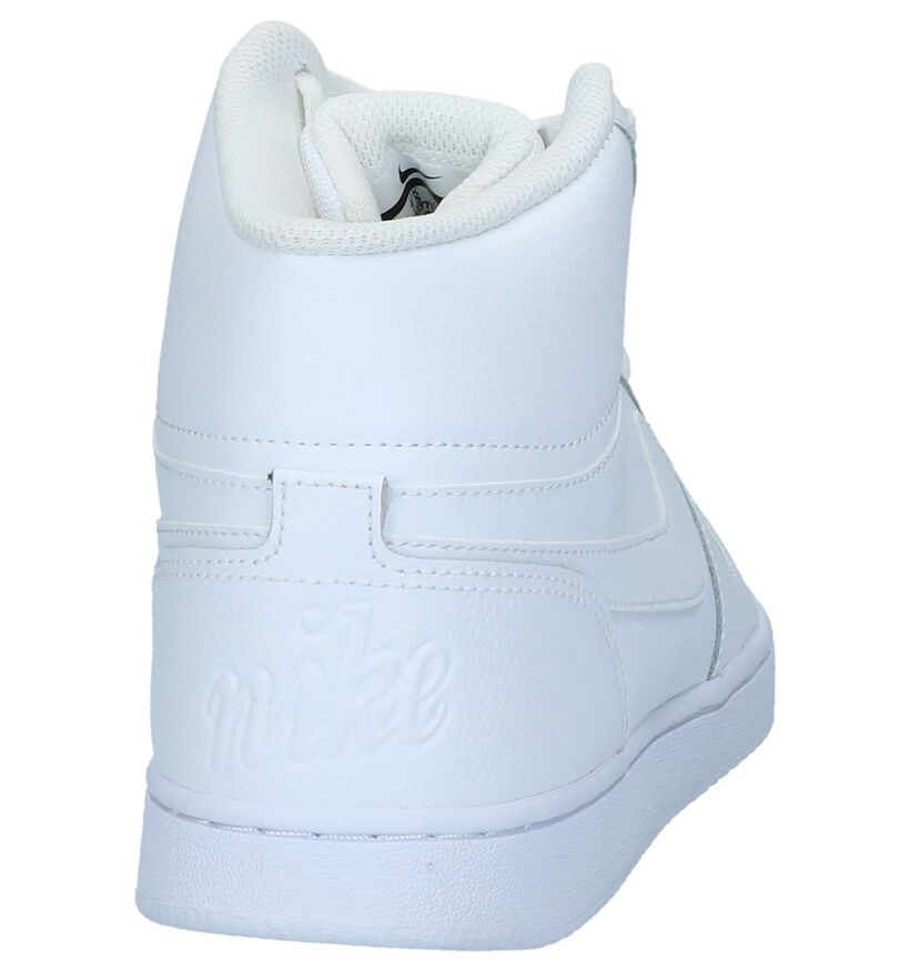 Nike Ebernon Hoge Sneakers Zwart in leer (222199)