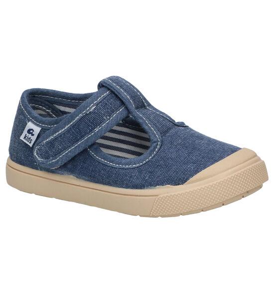 Ani Pepito Blauwe Chaussures à velcro en Bleu