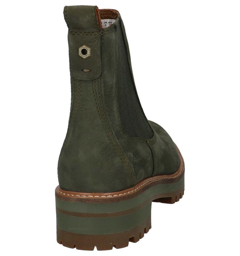 Timberland Courmayeur Valley Chelsea Kaki Boots in nubuck (222498)