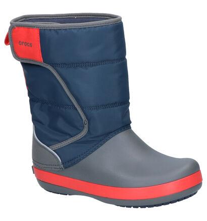 Grijs/Blauwe Snowboots Crocs Lodgepoint in stof (224403)