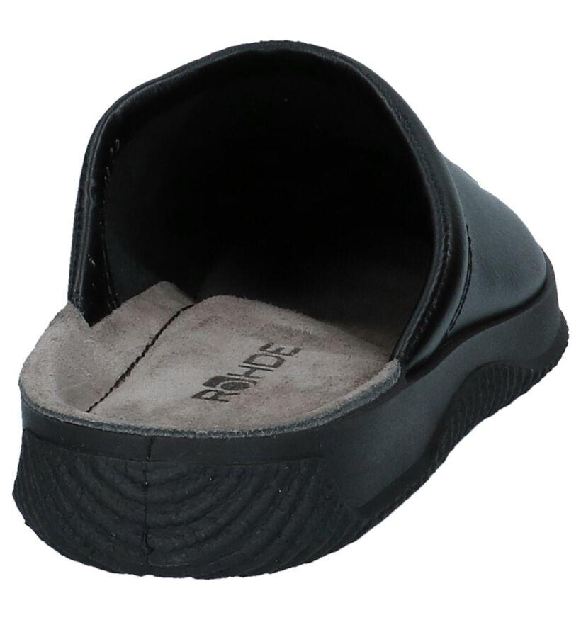 Rohde Pantoufles ouvertes en Noir en cuir (236198)