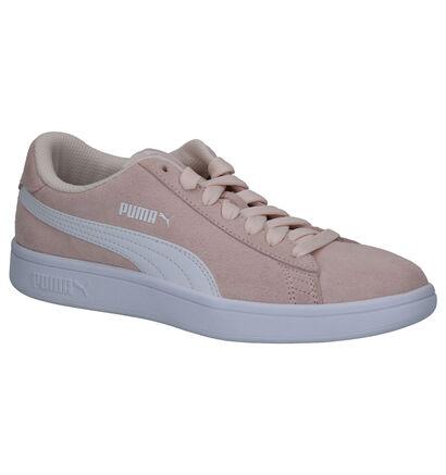 Puma Smash V2 SD Roze Sneakers in daim (265635)