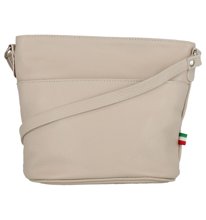 Time Mode Bubu Beige Crossbody Tas in leer (277149)