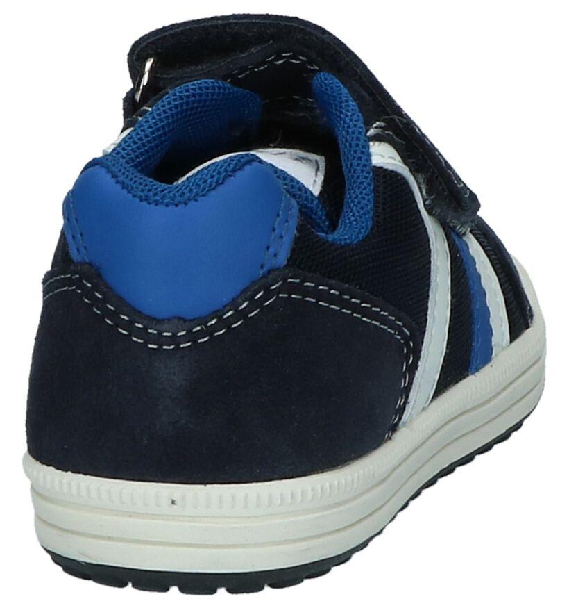 Geox Baskets basses en Bleu foncé en daim (210543)