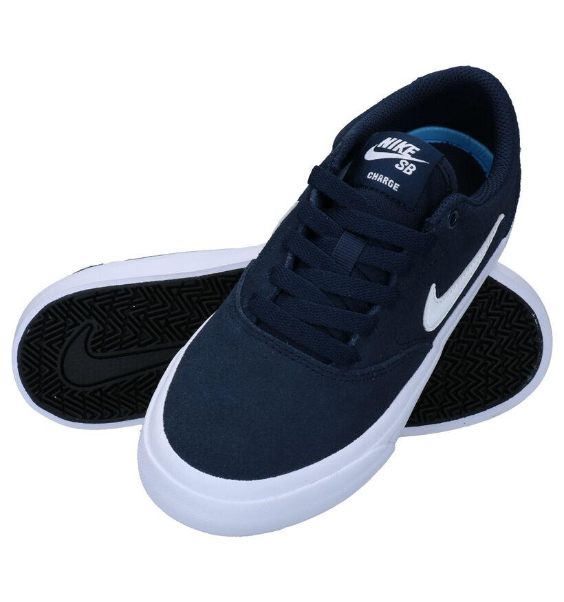 Nike SB Charge Baskets en Noir en nubuck (274612)