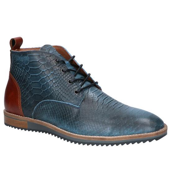 Cycleur de Luxe Allrounder Chaussures Hautes en Bleu