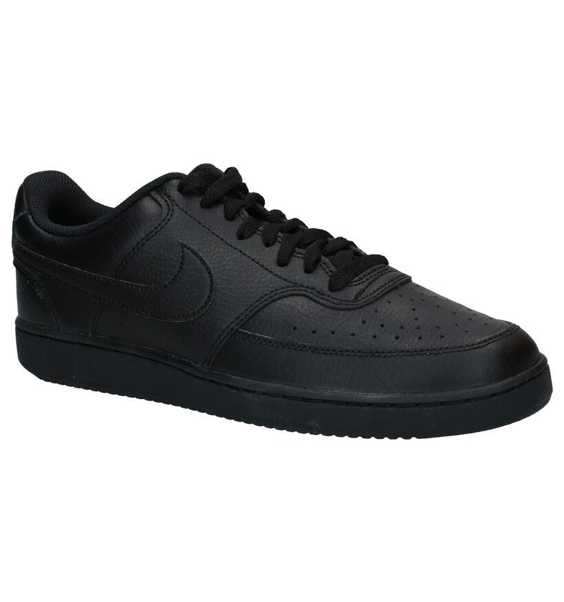 Nike Court Vision Witte Sneakers in kunstleer (283891)