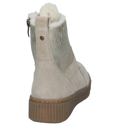 Lichtbeige Boots met Rits/Veter Tamaris, Beige, pdp