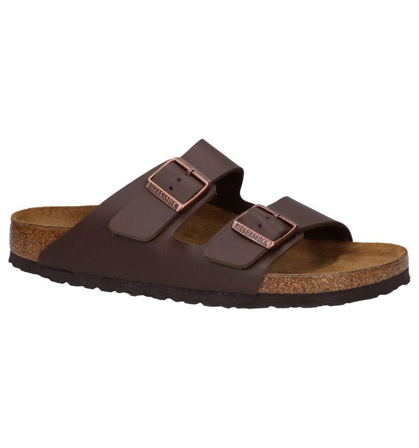 Birkenstock Arizona Nu-pieds en Gris en cuir (281363)