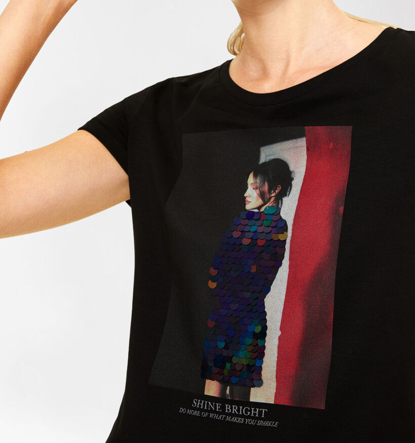 comma Zwarte T-shirt (292868)