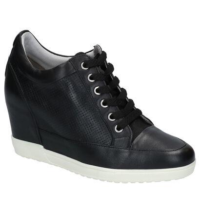 Geox Chaussures à lacets en Noir en cuir (266859)