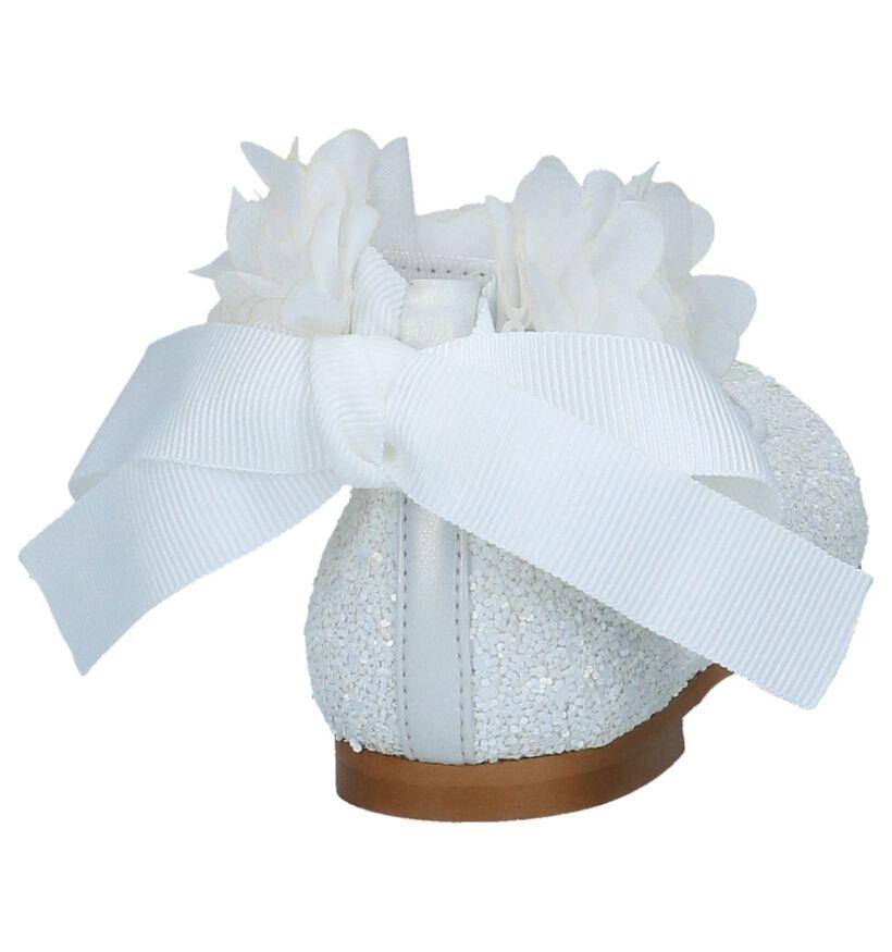 Oca-Loca Ballerines en Blanc en textile (266800)