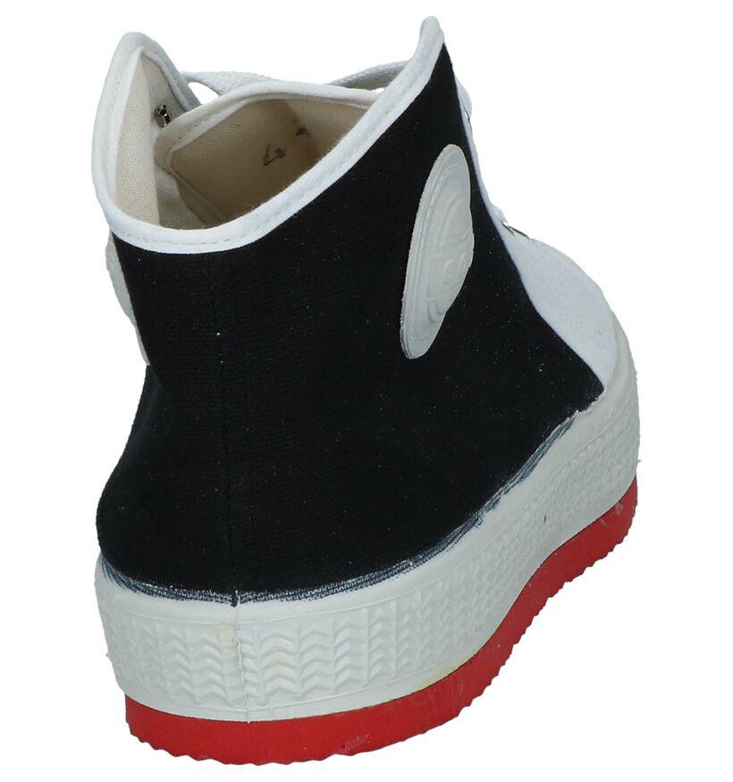 0051 Baskets hautes en Noir en textile (253198)