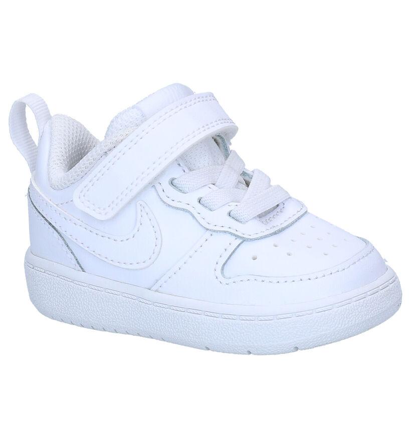 Nike Court Borough Baskets en Blanc en cuir (293601)
