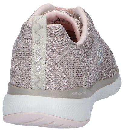 Zwarte Sneakers Skechers Flex Appeal, Roze, pdp