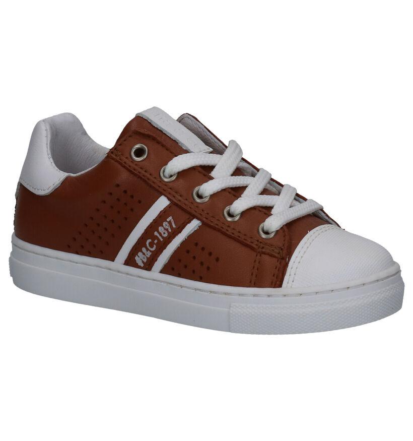 Bana & Co Cognac Sneakers in leer (273247)