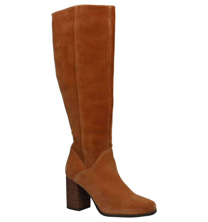 Tamaris TOUCH it Cognac Knielaarzen in daim (291318)