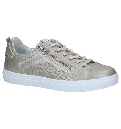 Witte Schoenen met Rits/Veter NeroGiardini, Goud, pdp