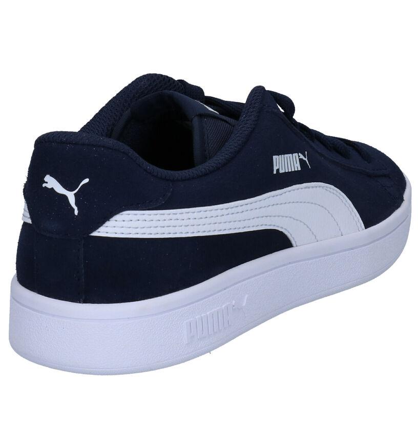 Puma Smash Sneakers en Bleu en cuir (265629)