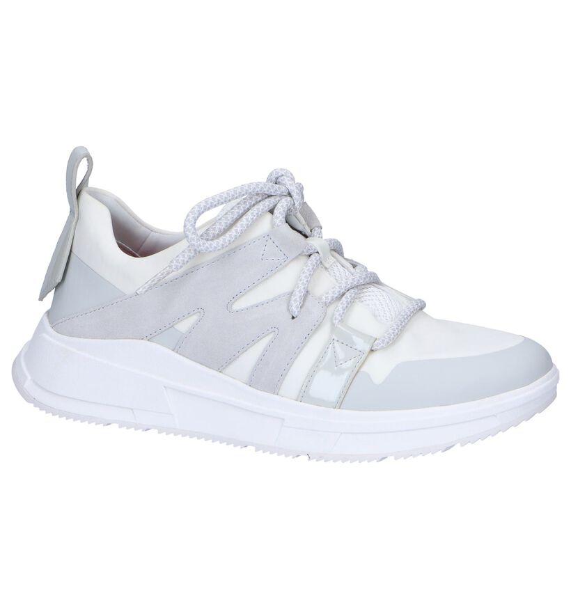 Ecru Sneakers FitFlop Carite Sport Low in daim (252174)