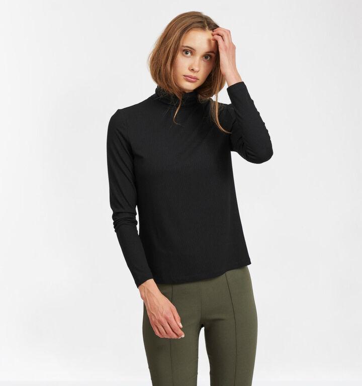 Vila Zwarte T-shirt Longsleeve