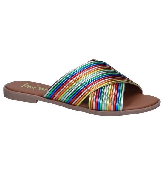 Via Limone Nu-pieds plates en Multicolore