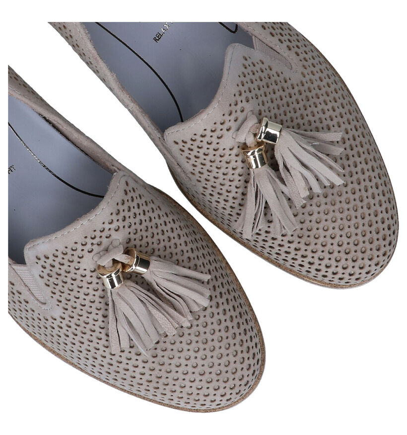 Tamaris PureRelax Taupe Loafers in daim (298671)