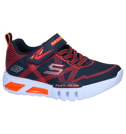 Skechers S Lights Zwarte Sneakers in stof (256239)
