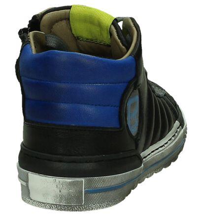 Romagnoli Zwarte Hoge Schoenen met Rits/Veter in leer (203996)