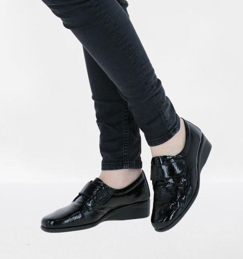 Hush Puppies Milen Chaussures à velcro en Noir en cuir verni (292680)