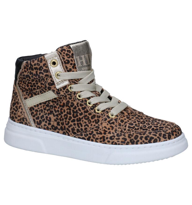 Hip Beige Sneakers in leer (281686)