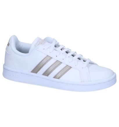 adidas Grand Court Sneakers Zwart in leer (262585)