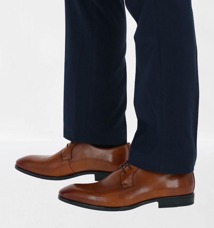 Steptronic Faro Chaussures à lacets en Noir en cuir (283672)