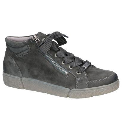 Ara High Soft Boots en Vert en daim (260839)