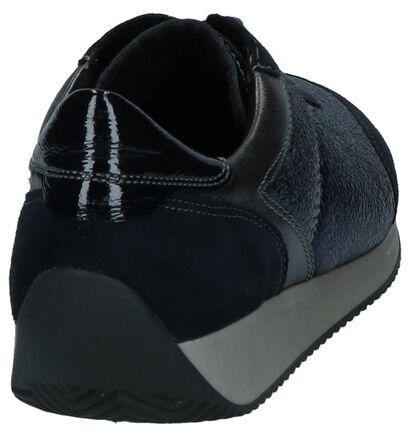 Donkerblauwe Lage Geklede Sneakers Ara Fusion 4 in lakleer (232421)
