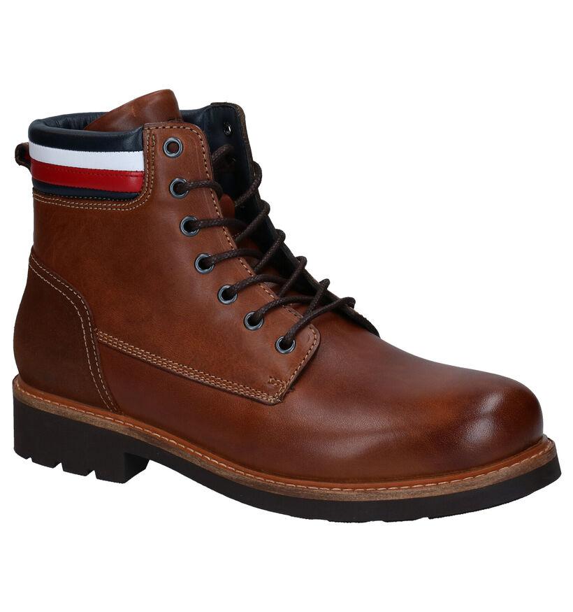 Tommy Hilfiger Corporate Leather Bottines en Cognac en cuir (279970)