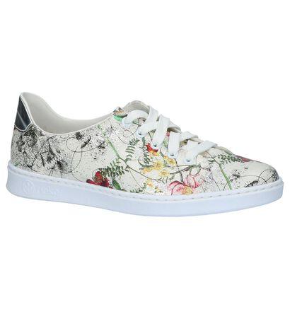 Witte Rieker Sneakers met Bloemenprint, Multi, pdp