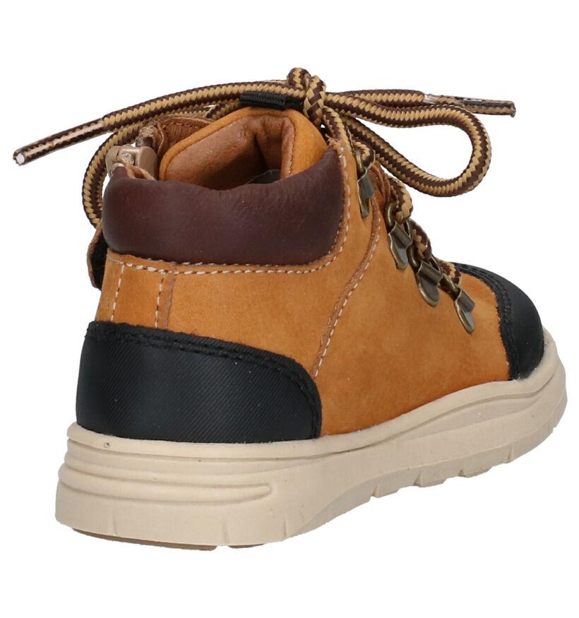 Milo & Mila Chaussures hautes en Cognac en faux fur (261382)