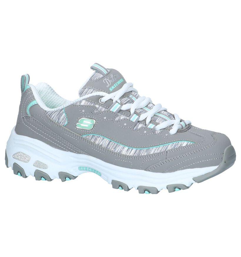 Grijze Sneakers Skechers D'Lites in stof (252023)
