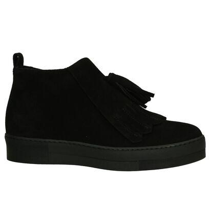 Zwarte Geklede boots Louisa in daim (202547)