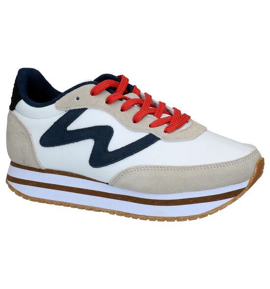 Woden Olivia Plateau Witte Sneakers