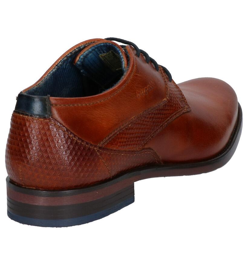 Bugatti Chaussures habillées en Cognac en cuir (255342)