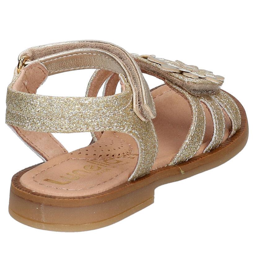 Lunella Gouden Sandalen in leer (266652)